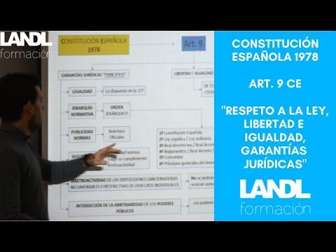 Constitución española 1978 para oposiciones y esquema artículo 9 título preliminar