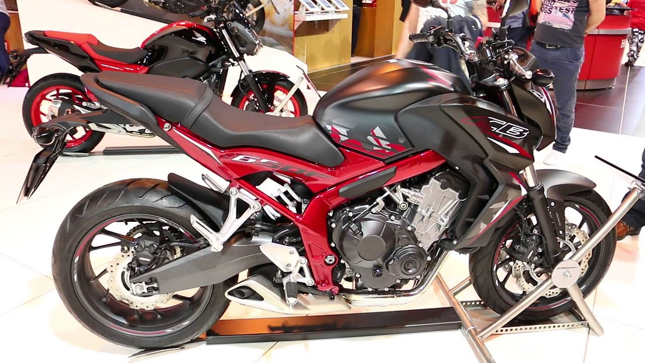 2016 Honda CB650F Walkaround @ Motorcycle Live 2015 - YouTube