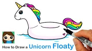 How to Draw a Unicorn Floaty Easy | Summer Art Series #2