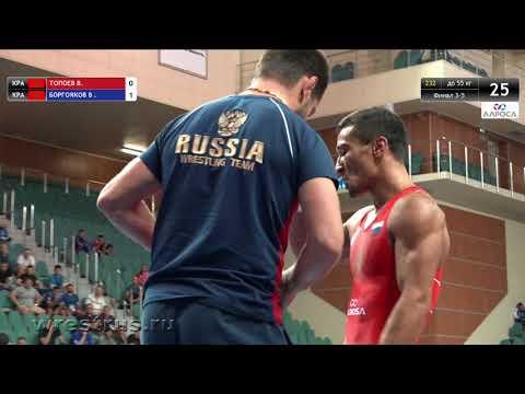 ЧР-2018. Гр.б. 55 кг. Василий Топоев - Станислав Боргояков. За бронзу.