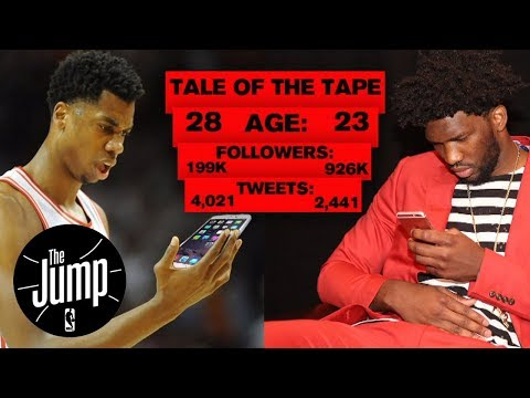 Joel Embiid or Hassan Whiteside: Who won the twitter beef | The Jump | ESPN