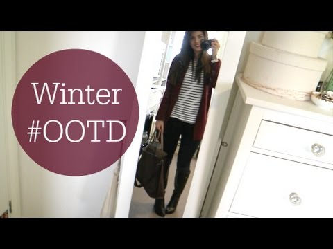winter ootd burgundy knee high boots youtube. Black Bedroom Furniture Sets. Home Design Ideas