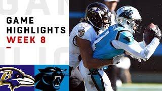 Ravens vs. Panthers Week 8 Highlights | NFL 2018