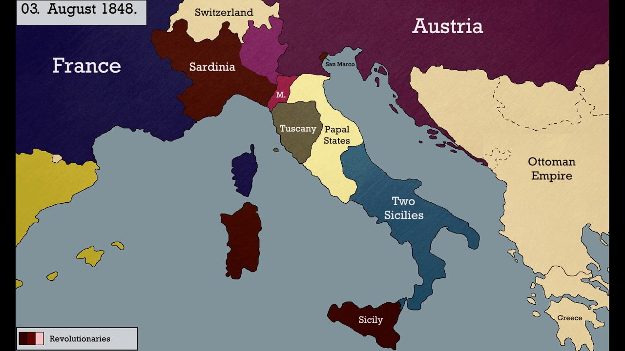 a report on the italian revolutions of 1848 Section 1: were the revolutions of 1848 important focus points why were there so many revolutions in 1848 conclusions of the italian revolutions fortunately for austria, italians as a whole did not rally to the flag of charles albert.