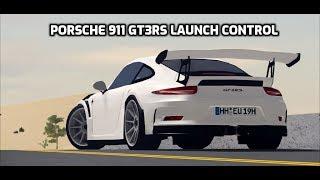 Roblox Porsche 911 GT3RS lançamento teste de controle