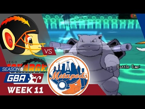 GBA S6 Week 11 Wi-Fi Battle vs. New York Metapods - SHELL SHOCKED
