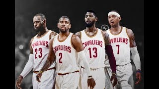 LeBron James, Kyrie Irving, Paul George, and Carmelo Anthony on the Cavaliers