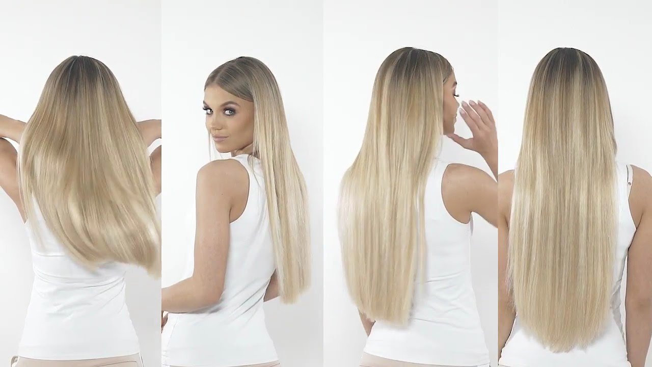 Beauty Works Clip In Hair Extension Length Guide Youtube
