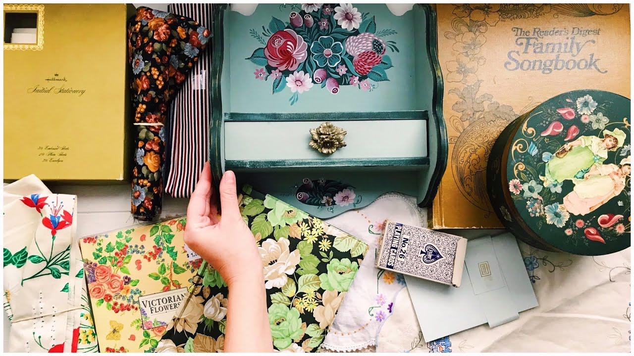 Thrift Store Haul | Craft Supplies | Junk Journal Supplies 04
