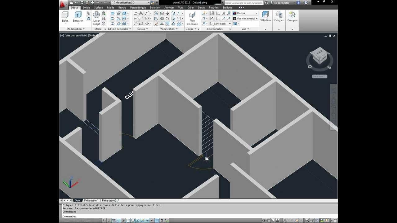 autocad 3d house modeling tutorial 1 3d home design youtube. beautiful ideas. Home Design Ideas