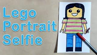 Art Exploration - Lego Portrait Selfie