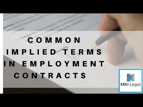 Common implied terms in employment contracts