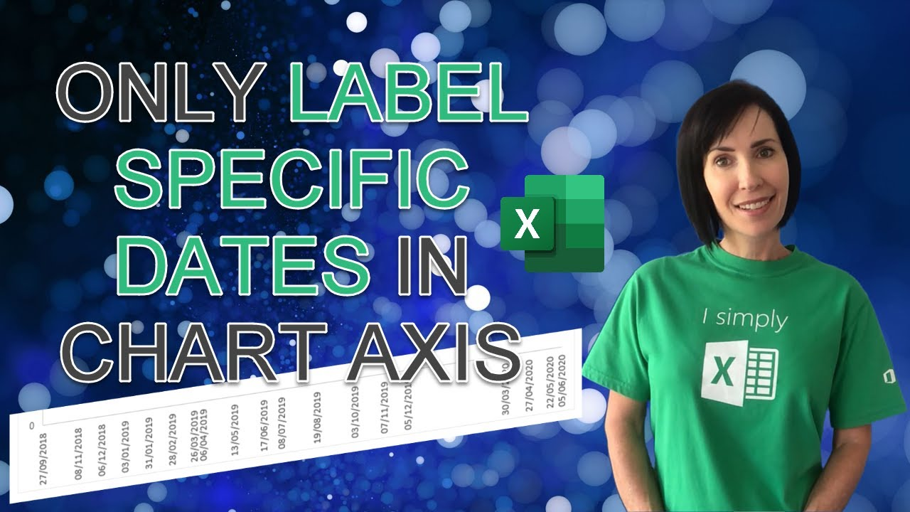 Only Label Specific Dates in Excel Chart Axis - Reduce clutter and look more professional!