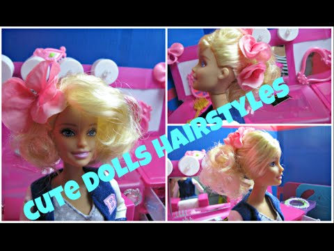 Cute Dolls Hairstyles Barbie Roller Set And Styles Barbie Youtube