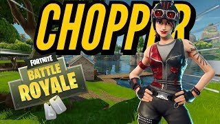 CHOPPER Skin Gameplay! In Fortnite Battle Royale..