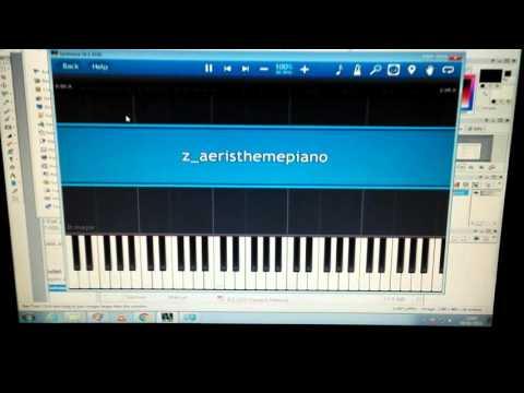Yamaha Ez-220 + Synthesia set-up tutorial - FF7 Aerith theme example