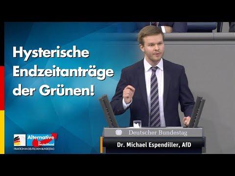Hysterische Endzeitanträge der Grünen! - Michael Espendiller - AfD-Fraktion im Bundestag