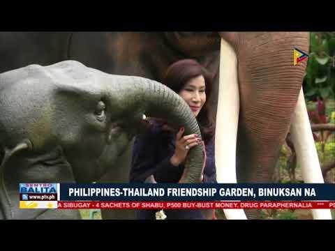 Philippines-Thailand Friendship Garden, binuksan