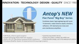 ANTOP AT-400BV FLAT PANEL Smartpass Amplified Digital Outdoor/Indoor TV Antenna Review