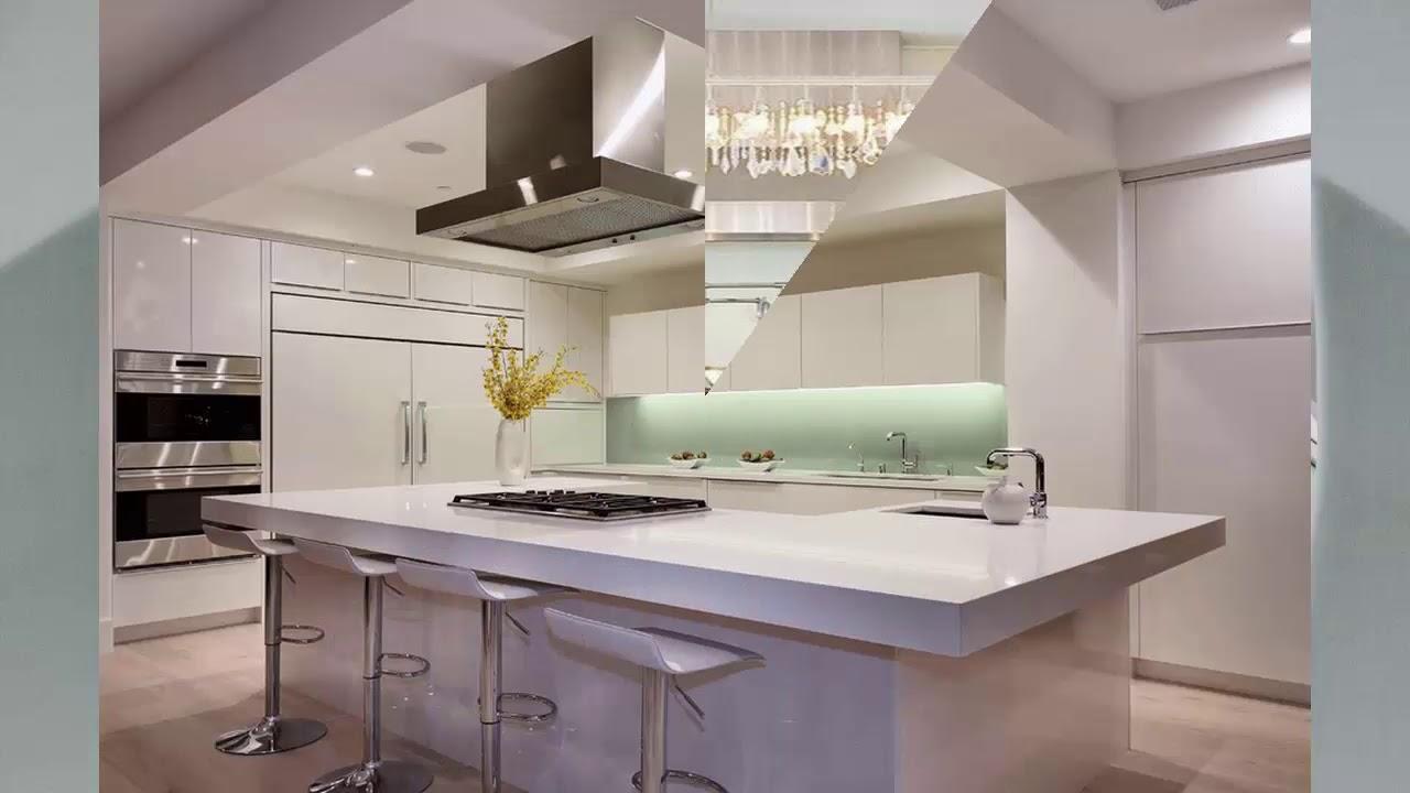 moderne küche mit kochinsel - youtube