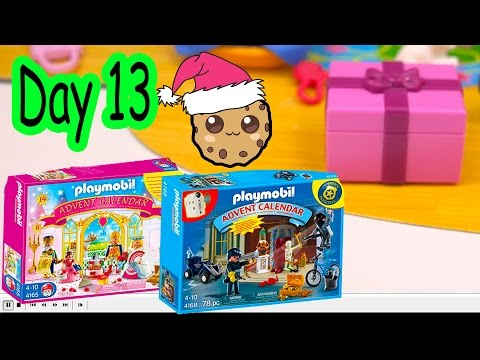Polly Pocket, Playmobil Holiday Christmas Advent Calendar Day 13 Toy Surprise Opening Video