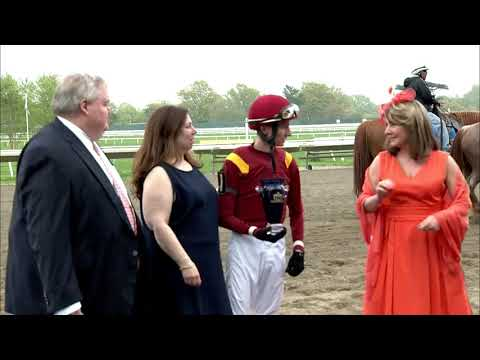 video thumbnail for MONMOUTH PARK  5-4-19 RACE 7 – THE CLIFF HANGER STAKES