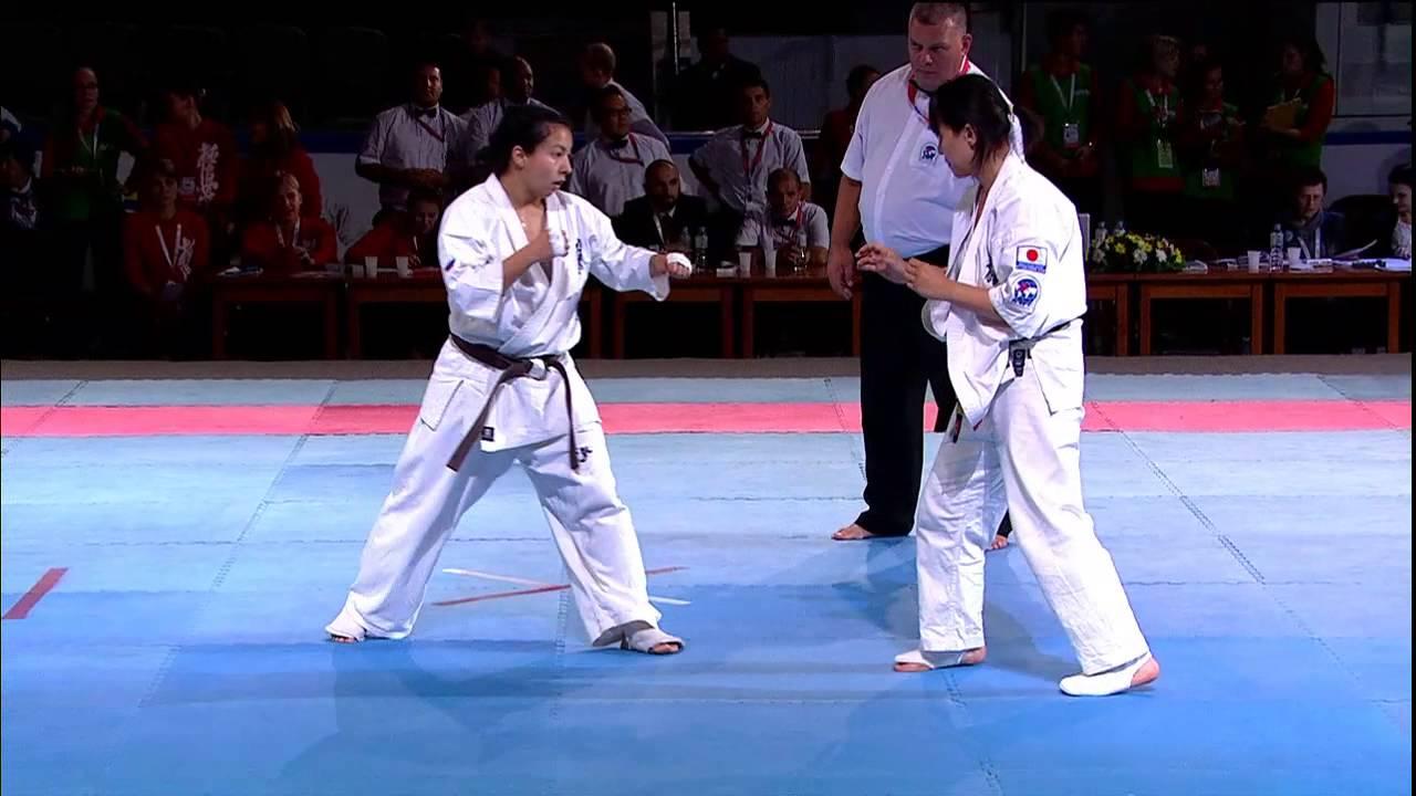Полуфинал Чемпионата мира по Карате Киокусинкай 2015 женщины 60 кг