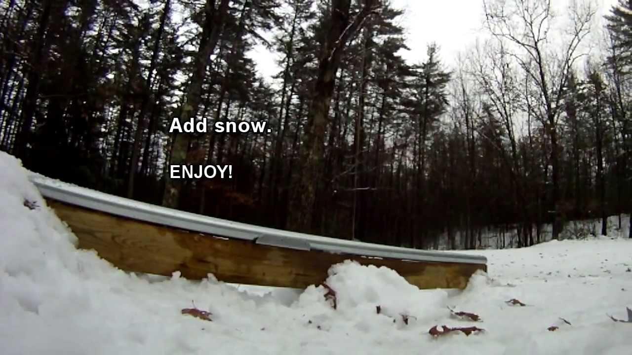 Attirant DIY   How To Build A Terrain Park Rail For Your Backyard   YouTube