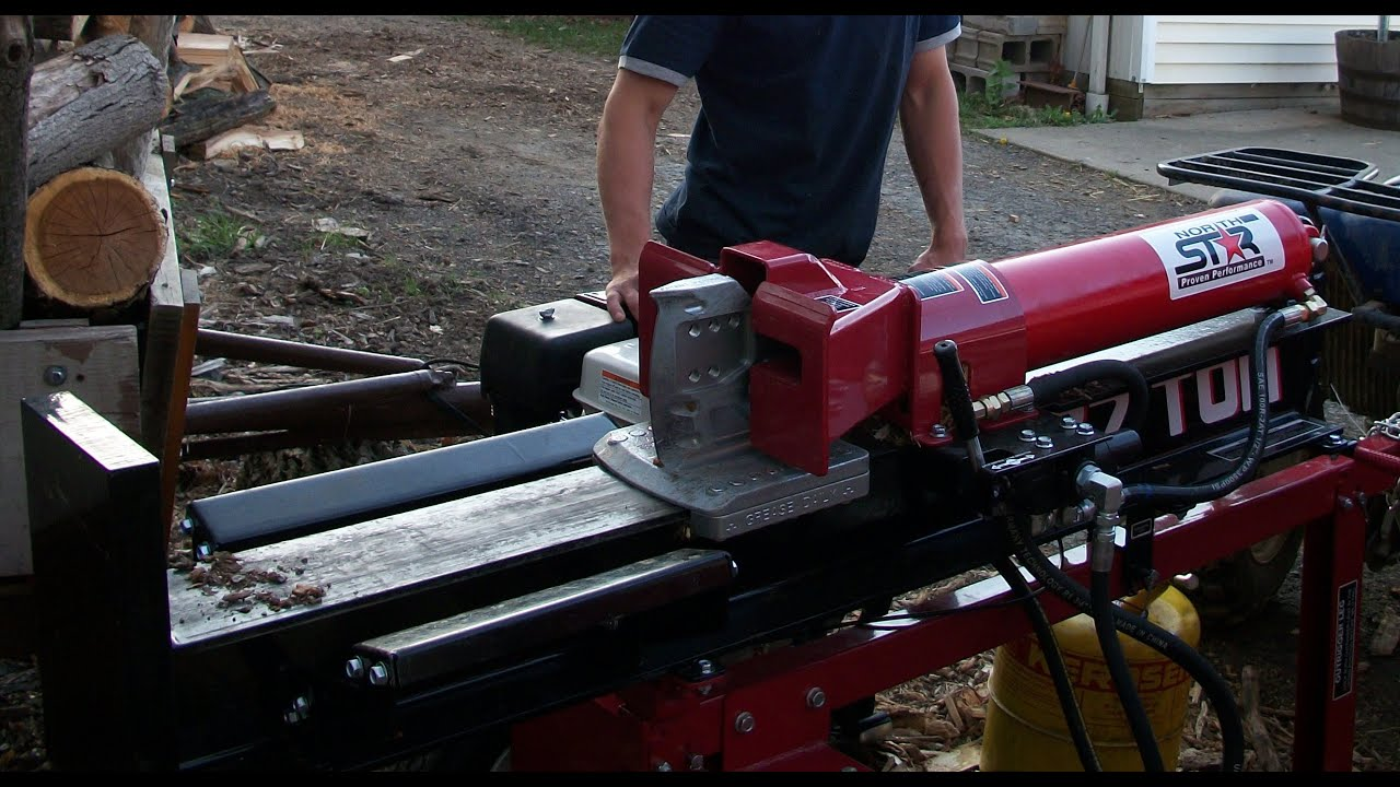 How to change the oil in a log spitter 37 ton Honda engine ...