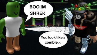 Trolling as Shrek on Roblox