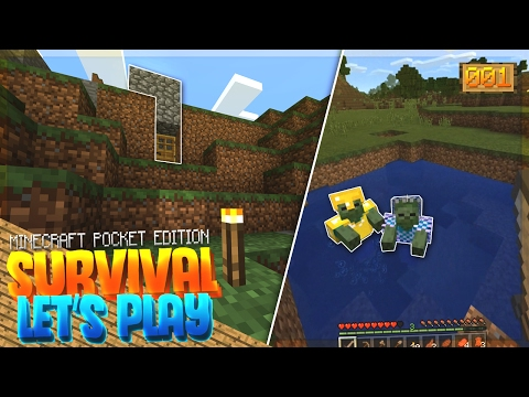 A NEW BEGINNING!! - MCPE 1.0 Survival Let's Play EP.1 - Minecraft PE (Pocket Edition)