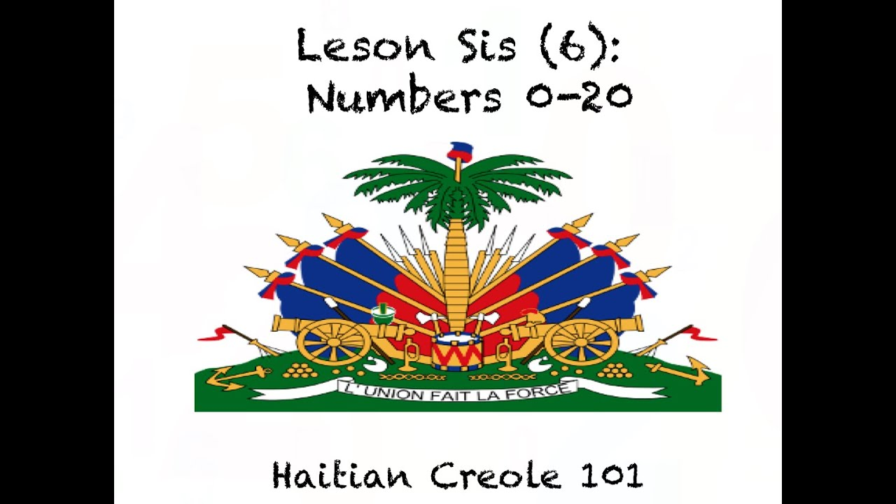 Haitian Creole Lesson 6 Numbers 0 20
