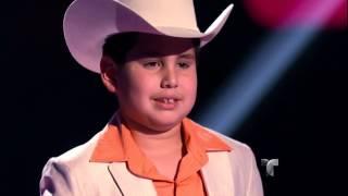 """Bryan canta """"Allá en el rancho grande"""" en """"La Voz Kids"""""""