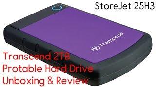 Transcend 2TB Shockproof Portable Hard Drive Unboxing & Review [StoreJet 25H3] - 2019