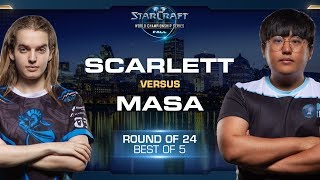 MaSa vs Scarlett TvZ - Round of 24 - WCS Fall 2019 - StarCraft II