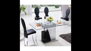 Monaco Large Glass Dining Table And 6 Chairs