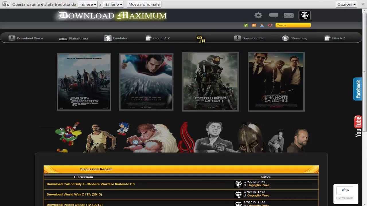 sito per scaricare film gratis italiano velocemente da internet