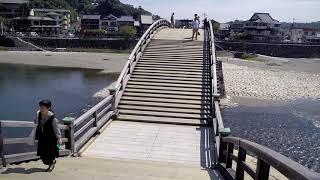 Crossing Kintaikyo Bridge - Iwakuni City - Yamaguchi Japan - Famous Landmark