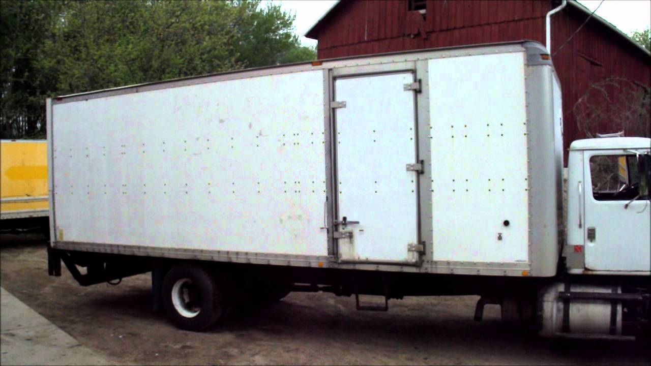 1993 International 26 Foot Box Truck Cummins L10 Youtube
