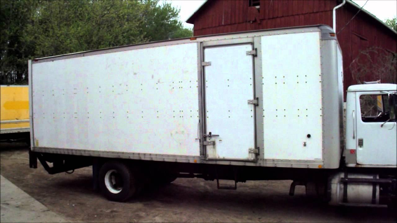 1993 international 26 foot box truck cummins l10 youtube