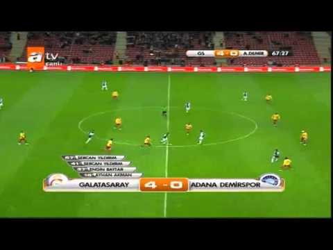 Galatasaray 4-0 Adana Demirspor 10.01.2012
