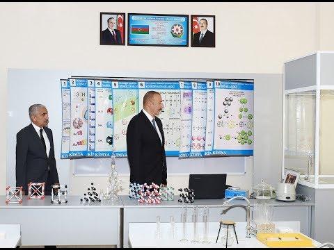 Президент Ильхам Алиев ознакомился с условиями, в средней школе номер 192