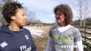 USA Eagles meet Michelle Akers - Atlanta7s