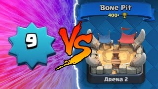 clash royale   level 9 trolling arena 2   insane clash royale trolling lower levels