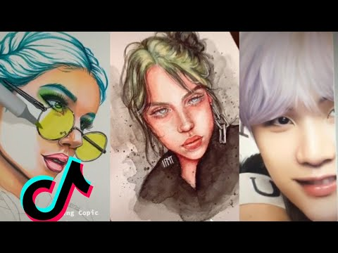 ART TIK TOK COMPILATION #9 | Yes, I Like Billie Eilish