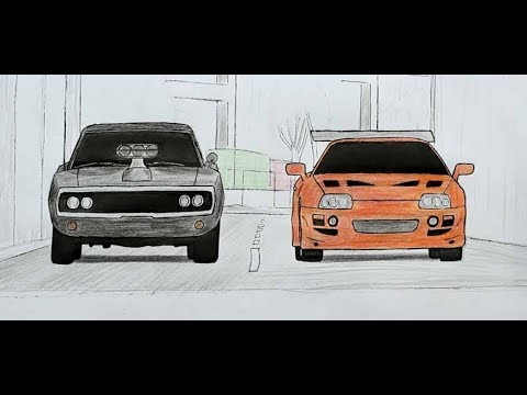🚗🚗 Как нарисовать Машины из ФОРСАЖА (Ehedov Elnur)How To Draw The Fast And Furious Cars