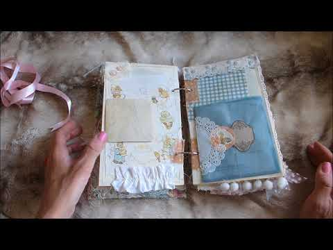 Vintage Junk Journal Beatrix Potter Fabric Covered - SOLD - Thank You X
