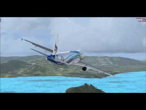 Airbus X Extended A320 | Fly Bangkok Suvarnabhumi Intl. to Samui Airport [Arrival] 02 04 2017