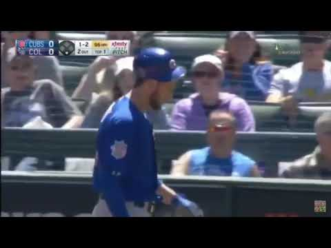 Kris Bryant hit in Head with Pitch