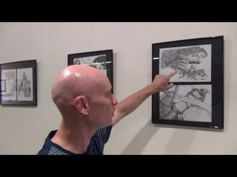 El ilustrador David Guirao expone en el Museo Diocesano de Barbastro - Monzón